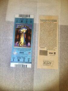 TWO SUPER BOWL 47  XLVII Tickets Ravens Vs. 49's