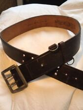 REPLAY REAL LEATHER BELT DARK BROWN UNISEX - CINTURA VERA PELLE MARRONE SCURO