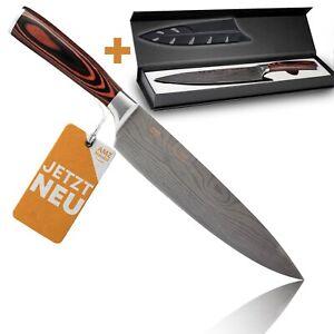 Kochmesser extrem scharf - besonders handlich dank Pakkaholz - Küchenmesser