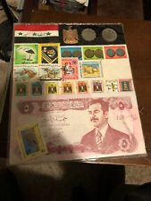Iraqi Stamp And Coin Set