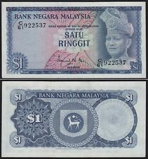 Malaysia 1 Ringgit Banknote 1967/72 Pick 1a XF/aUNC (1-/2)    (21541