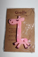 Set of 3 Pink Giraffe Earphone Cable Wire Cord Organizer/ Holder For Earbud