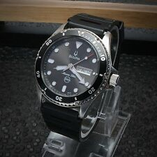 Bulova Men's 98C61 Marine Star Watch Black Rotating Bezel Great Condition Works