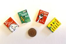 Dollhouse Miniature Children's Books Dr. Seuss - Set of 4 - Collection 2