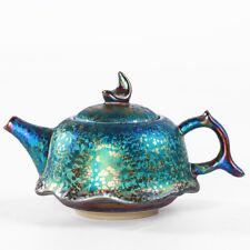 Tianmu glaze oil droplets jian zhan colorful Lotus teapot ceramic Tea set