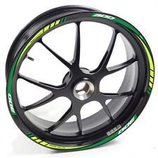 Auen Sticker Wheel Rim Kawasaki Ninja 300 Green Strip Tape Vinyl Adhesive