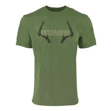 Under Armour Men's Heatgear Graphic Antler UA T-Shirt Moss Green/Brown M
