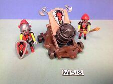 (M58) playmobil Gros canon et chevalier du dragon rouge ref 3320 3269