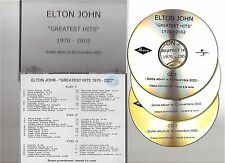ELTON JOHN greatest hits 1970 2002 CD ALBUM PROMO TEST french pressing 3CD