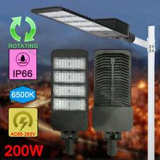New listing 200W Led Parking Lot Shoebox Street Light Outdoor Ip66 Lamp 6500K Fixture
