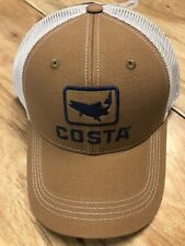 BRAND NEW COSTA DEL MAR TROUT TRUCKER CAP HAT  BROWN   - HOT HOT