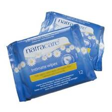 NATRACARE INTIMATE WIPES-PURE ORG. COTTON WIPES with ROSE, CALENDULA, CAMOMILE