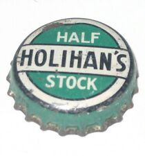 HOLIHANS HALF STOCK BEER or ALE BOTTLE CAP LAWRENCE, MA USED CORK Lined