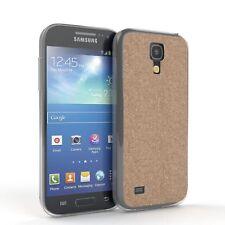 Schutz Hülle für Samsung Galaxy S4 Mini Glitzer Cover Handy Case Champagner
