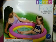 Intex Brand Sunset Glow Inflatable Baby Swimming Round Pool Fun Sun Ages 1-3