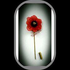 Poppy Pin Brooch..(Bronze Filigree Safety)....