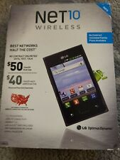 "NET 10 WIRELESS LG OPTIMUS DYNAMIC SMARTPHONE 3.2"" TOUCHSCREEN - NEW - NT 4329"