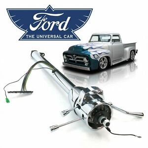 "Chrome 5-Position Tilt  Steering Column Auto Shift 33"" Fits 1948-56 Ford F1 Truc"