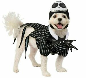 Rubies Nightmare Before Christmas Jack Skellington Pet Halloween Costume S MD XL