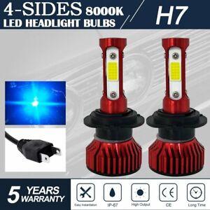 4-Sides H7LED Headlight 2000w 36000LM High Low Beam Fog Lamp Bulb ICE BLUE 8000K