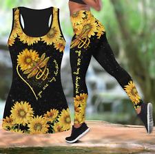 Dragonflies And Sunflower Combo Legging Tank Top For Women Best Seller Full Size
