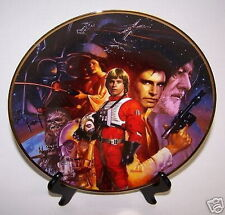 "Star Wars Movies 9 1/4"" Plate Trilogy Darth R2-D2 Luke Yoda & Friends"