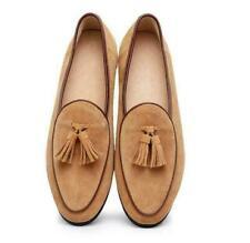 Británica para hombre de cuero de gamuza Borlas antideslizante en mocasines Grueso Zapatos Informales Formales