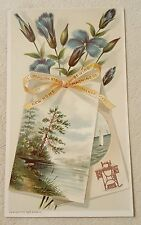 Antique Vintage Victorian Trade Card New Home Sewing Machines