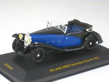 DELAGE D8SS FERNANDEZ & DARRIN 1932 IXO MUS046 1:43 NEW MODEL CAR BLUE BLACK