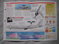 Aircraft of the World Card 21 , Group 5 - Boeing E-3 AWACS Sentry