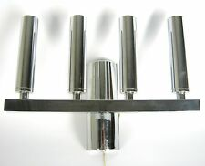 Designer Metall Lampe / Wandlampe verchromt 70er Jahre? Design Wall Lamp Cool