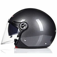 Cruiser Open Face Vintage Helmet Motorcycle Jet Pilot Moto Gray Copter Retro New