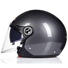 Cruiser Open Face Vintage Helmet Motorcycle Jet Pilot Moto Gray Copter Retro New
