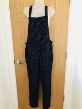 New Boden Johnnie B Girl's Navy Dungaree, Navy Star (93233) - Age 16 Years +