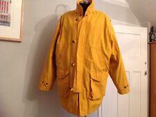 Gant chaqueta de hombre Vela Desmontable Forro de Lana XL Parche Sport Amarillo Botón Postal