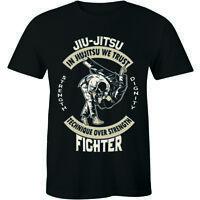 Jiu-Jitsu Technique Over Strength Fighter Martial Arts Shirt Men's T-shirt