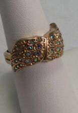 Kirks Folly NWD Heavenly Hugs Angel Wing Ring Size 7 Gold Tone