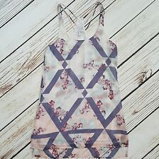 NWT O'Neill Womens Slip Shift Summer Beach Dress XS White Floral Racerback Hi-Lo