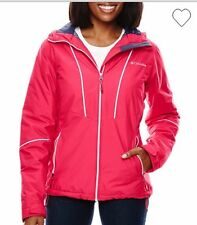 Columbia Snow Daze Jacket Thermal Coil Snowboard Ruby Red L $150 NWT