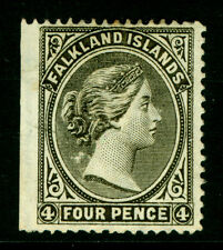 FALKLAND ISLANDS 1889 VICTORIA 4p olive gray  Sc# 6b  MINT MH VF