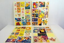 Set of 4 Bootleg Pokemon Sticker Sheets Anime Nerd Geek Pocket Monsters Art A2