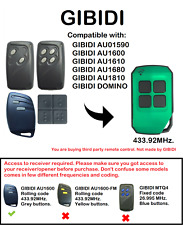 GIBIDI AU01590, AU1680, AU1600, AU1610, DOMINO Compatible Remote Control
