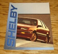Original 1989 Dodge Shelby CSX & Shelby Dakota Sales Brochure 89