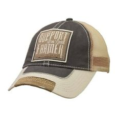 "Farm Boy Brand ""Support Your Local Farmers"" Frayed Adjustable Men's Cap"
