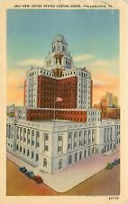 United States Customs House Philadelphia Pa old cars stamp unposted Postcard