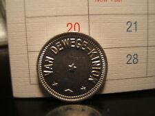 VAN DEWEGE-KINION Token  Good for 5 Cent in Trade UNCIRCULATED  Kansas?