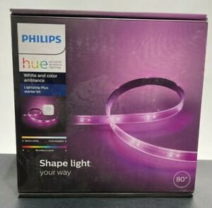 NEW Philips Hue White & Color Ambiance 80'' Lightstrip Plus Starter Kit w/ Hub