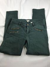 J Crew Jeans Women Jeans Skinny Stretch Army Green Denim Pants Size 26 ~BL