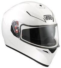 Cascos lisos AGV color principal blanco para conductores
