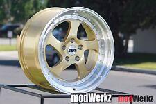 18x9.5 Inch +35 ESR SR02 5x120 Gold Wheels Rims BMW e46 e90 328i 325i 330i m3 m5